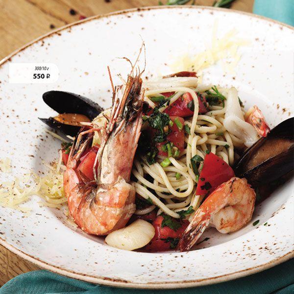 Спагетти с морепродуктами �...