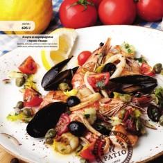 Ассорти из морепродуктов с соусом «Планш»